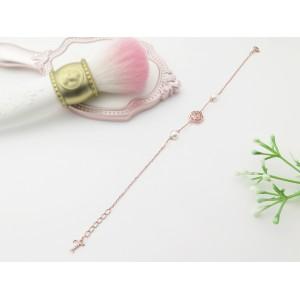 6-6.5mm Akoya Pearl 18KR Gold Plated Rose Bracelet