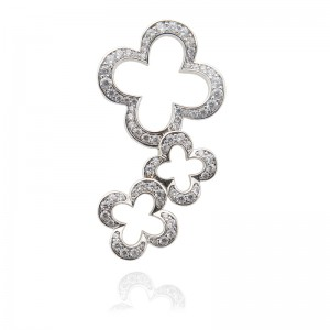 18KW Gold Plated Flower Clasp