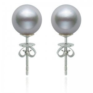 8.5-9mm Akoya Pearl Premium 18 KW Stud Earrings