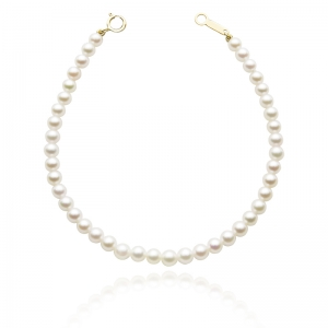 3.5-4mm Akoya Pearl Strand Bracelet With 18KG Clasp
