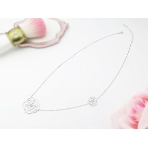 18KW Blossom Rose Necklace