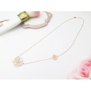 18KR Blossom Rose Necklace